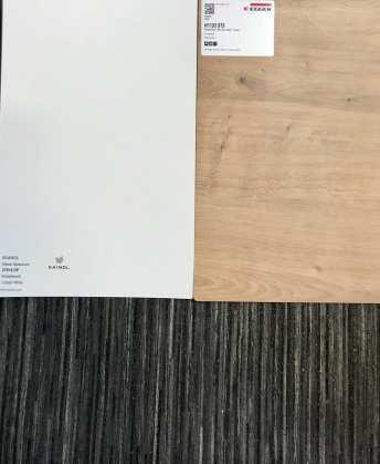 8303 Hamilton Eiche / White (Boden Dark Bamboo)